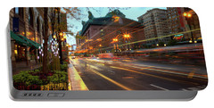 Chicago Lights Hustle Bustle Portable Battery Charger