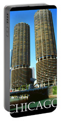 Chicago Poster - Marina City Portable Battery Charger