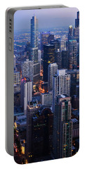 Chicago Night Skyline Portrait Portable Battery Charger