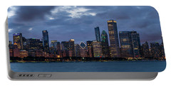 Chicago Night Skyline Portable Battery Charger