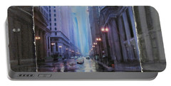 Chicago Rainy Street Expanded Portable Battery Charger