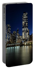 Chicago River And Skyline At Dusk  Portable Battery Charger
