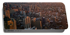 Chicago River North Skyline Portable Battery Charger
