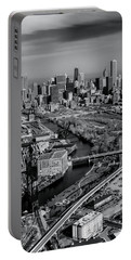 Chicago Skyline And River Portable Battery Charger