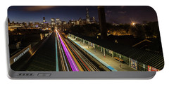 Chicago Skyline And Train Lights Portable Battery Charger