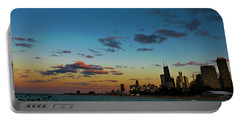 Chicago Skyline At Sunset Portable Battery Charger