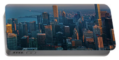 Chicago Skyline Evening Portable Battery Charger