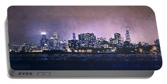 Chicago Skyline From Evanston Portable Battery Charger by Scott Norris