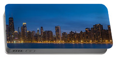 Chicago Skyline From North Ave Beach Panorama Portable Battery Charger