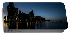 Chicago Skyline From Olive Park  Portable Battery Charger