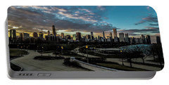 Chicago Skyline From The Museum Campus Portable Battery Charger