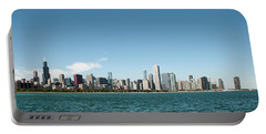 Portable Battery Charger featuring the photograph Chicago Skyline by John Black