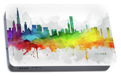 Chicago Skyline Mmr-usilch05 Portable Battery Charger by Aged Pixel
