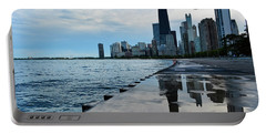 Chicago Skyline Reflections Portable Battery Charger