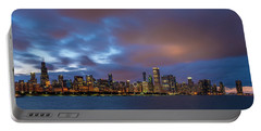 Chicago Skyline Sunset Portable Battery Charger