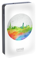 Chicago Skyline Usilch20 Portable Battery Charger by Aged Pixel