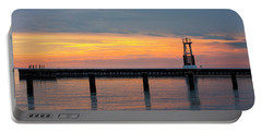 Portable Battery Charger featuring the photograph Chicago Sunrise At North Ave. Beach by Adam Romanowicz
