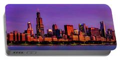 Chicago Sunrise Panorama Portable Battery Charger