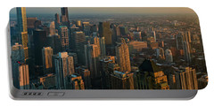 Chicago Sunset Cityscape Portable Battery Charger