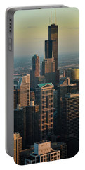Chicago Sunset Portrait Portable Battery Charger