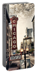 Chicago Theater Portable Battery Charger by Tammy Wetzel