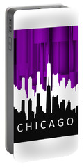 Chicago Violet In Negative Portable Battery Charger
