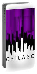 Chicago Violet Vertical  Portable Battery Charger