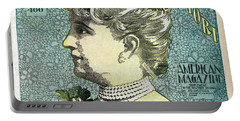 Portable Battery Charger featuring the photograph Chicago Woman Conquers New York's 400  1898 by Daniel Hagerman