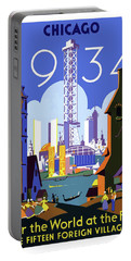 Chicago, World Fair, Vintage Travel Poster Portable Battery Charger