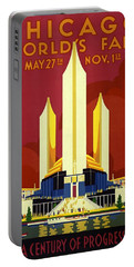 Chicago Worlds Fair 1933 Poster Portable Battery Charger