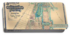 Chicago World's Fair - Columbian Exposition Map - 1893 Portable Battery Charger
