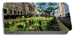 Chicago's Art Institute One Early Spring Morning Portable Battery Charger
