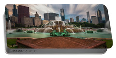 Chicago's Buckingham Fountain Portable Battery Charger by Sean Foster