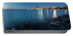 Chicago's Lakefront And Skyline At Dawn  Portable Battery Charger