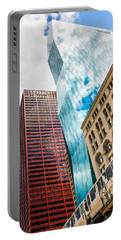 Chicago's South Wabash Avenue  Portable Battery Charger by Semmick Photo