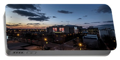 Chicago's United Center At Dusk  Portable Battery Charger