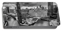 Chicago's Wolf Point From The 27th Floor Portable Battery Charger