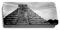 Chichen Itza B-w Portable Battery Charger