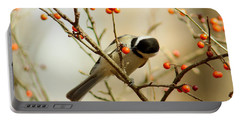 Chickadee 1 Of 2 Portable Battery Charger by Robert Frederick