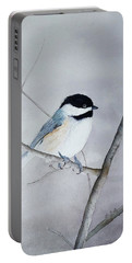 Chickadee II Portable Battery Charger by Laurel Best