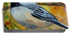 Chickadee In The Pines - Birds Portable Battery Charger