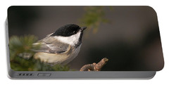 Chickadee In The Shadows Portable Battery Charger