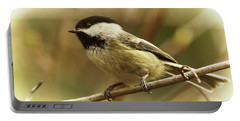 Chickadee Portable Battery Charger by Loni Collins