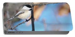 Chickadee Portable Battery Charger by Michael Peychich