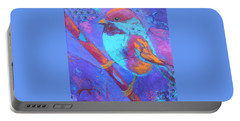 Portable Battery Charger featuring the painting Chickadee by Nancy Jolley