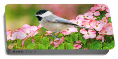 Chickadee On Dogwood Portable Battery Charger