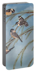 Chickadee Party Portable Battery Charger