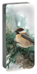 Chickadee Portable Battery Charger by Sherry Shipley
