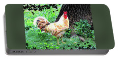 Chicken Inthe Woods Portable Battery Charger by Charles Shoup