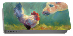 Chicken Meets Llama Portable Battery Charger